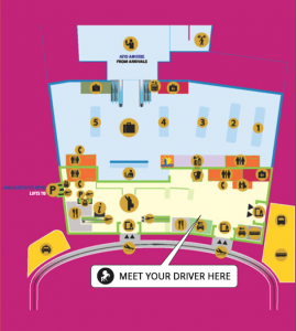 Larnaca airport pick up map