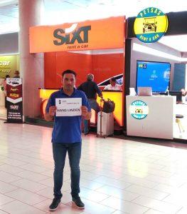 Larnaca airport taxi driver